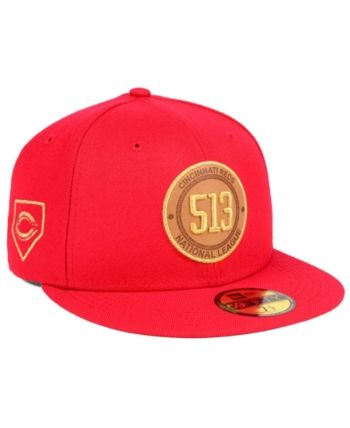 sports shoes 984c6 77181 New Era Cincinnati Reds Area Patch 59FIFTY Fitted Cap - Red 7 1 2