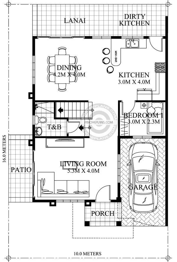 Small Modern House Plans Two Floor Small Two Story House Plan 7x14m With Images Cottage Style House Plans Modern House Plans Small Modern House Plans