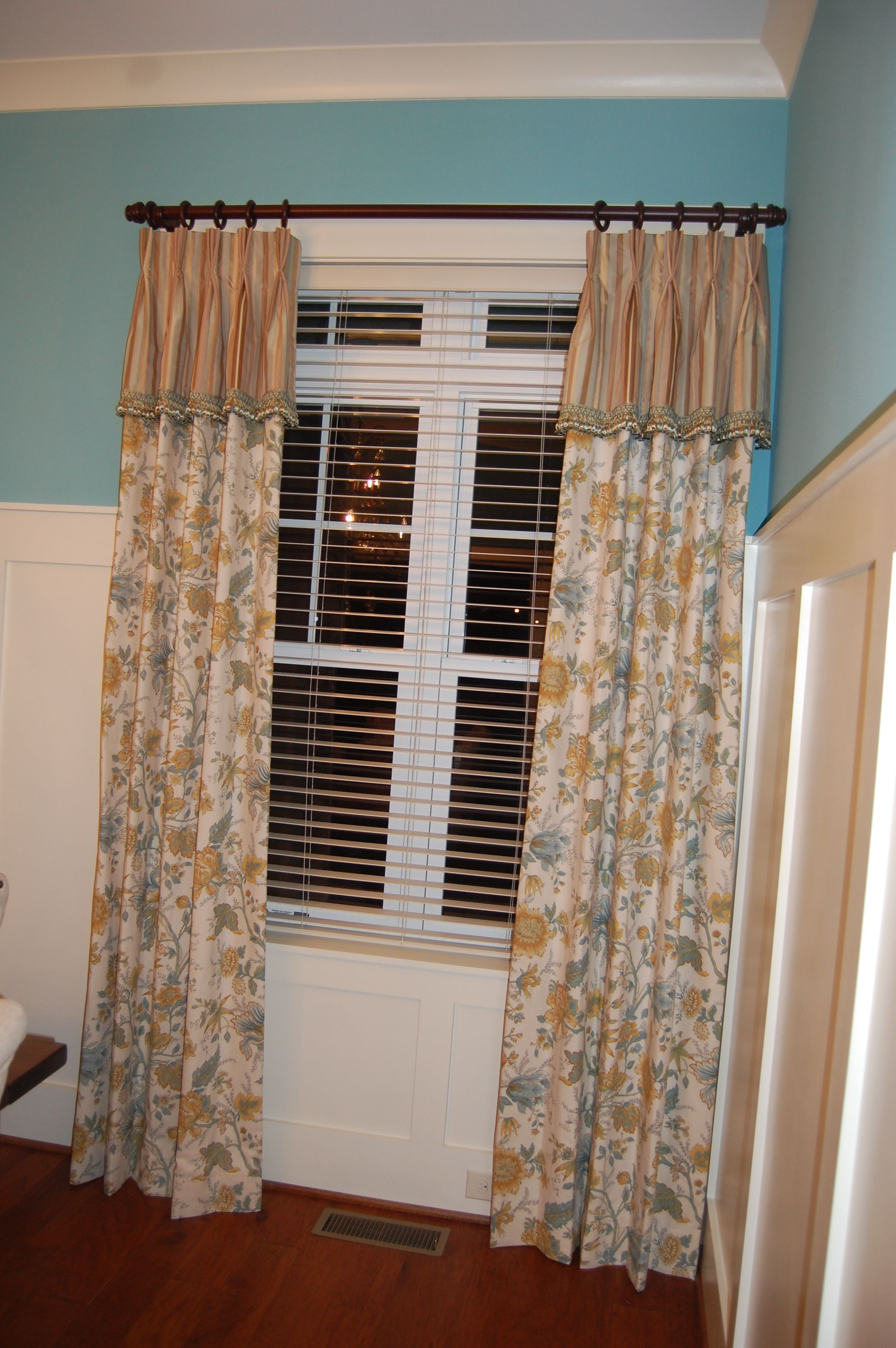 Dining Room Curtains Purchased The Floral For Pottery Barn Several Years Ago I