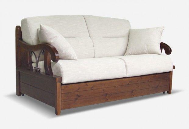 divano letto in legno e ferro eden | sofabeds - divani letto ... - Divano Letto Matrimoniale Legno
