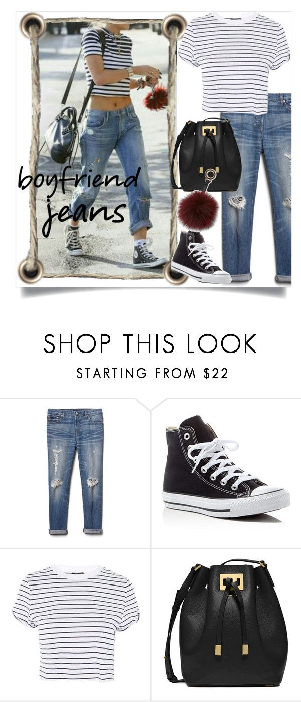 """""""boyfriend jeans"""" by beiacas ❤ liked on Polyvore featuring Gap, Converse, Topshop, Michael Kors, Surell and boyfriendjeans"""