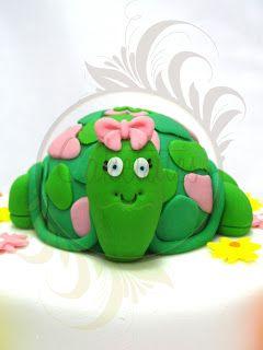 Caketutes Cake Designer: Bolo Tartaruga da Mariana - Turtle cake - detail