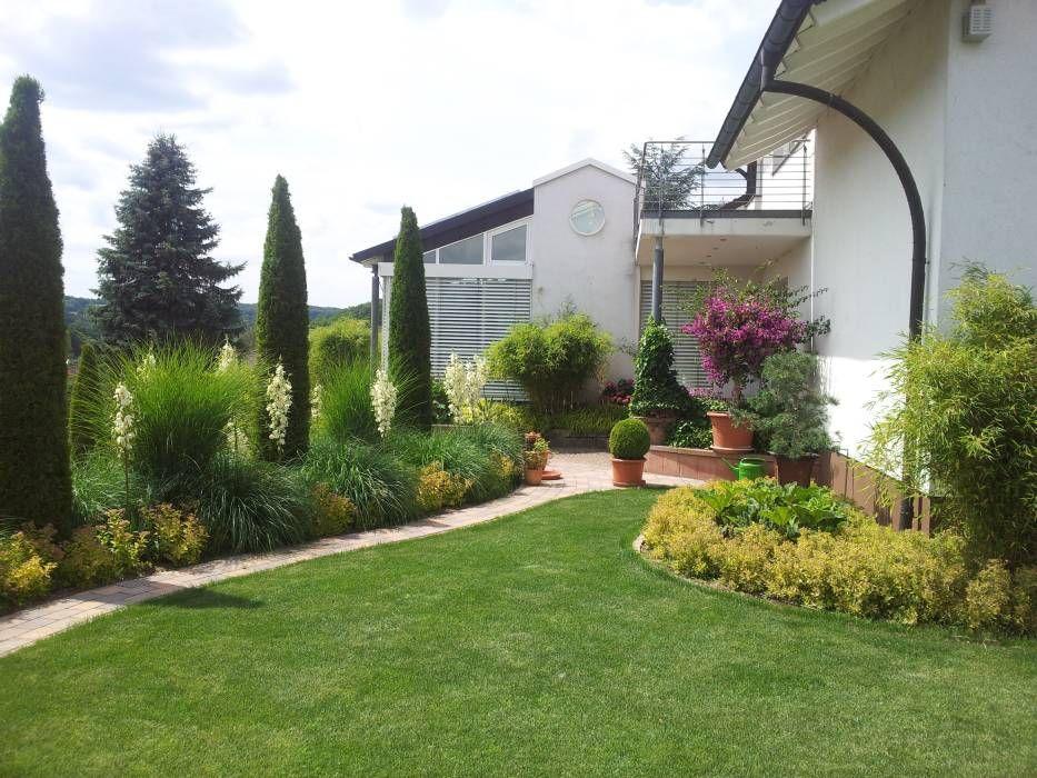 moderner garten bilder: moderner pflegeleichter gräsergarten, Best garten ideen