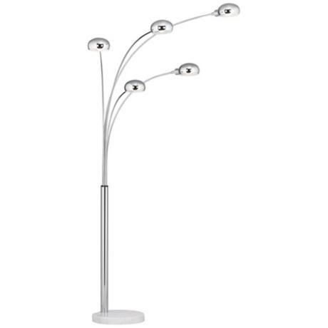 Nice Marble Base Five Light Arc Floor Lamp   Style # M0734