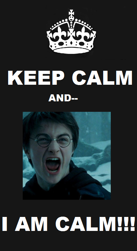 """I've had this picture of Harry () for a while now and I didn't know what to do with, but everyone seems to be into these """"keep calm"""" things. Keep Calm and."""
