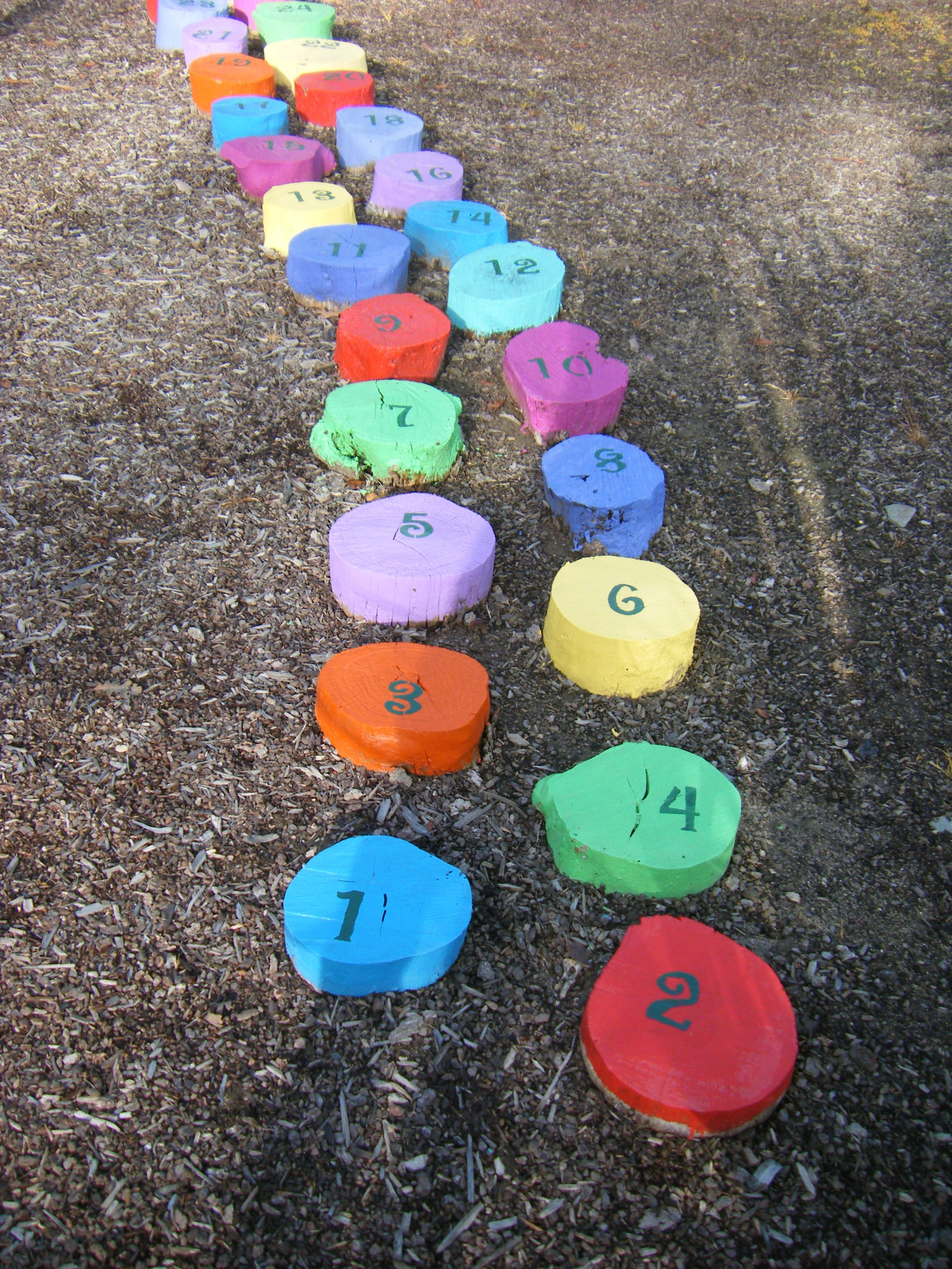 """Steps I painted and numbered to teach """"odd and even"""