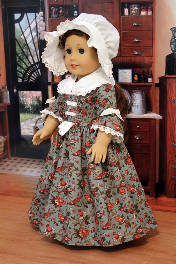 RESERVED Three Piece Colonial Fall Ensemble for 18 Inch Dolls | 18 ...