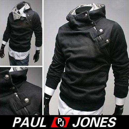 CHEAP-USA-Mens-Long-Sleeve-Casual-Coats-Jacket-Hoodie-Unique-Side-Zip-Hoodies