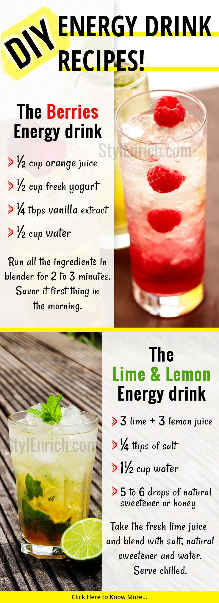 If You Are Looking For Energydrinks Recipes That Make You Healthy Then These Homemade Healthy Energy Energy Drink Recipe Healthy Energy Drinks Healthy Detox