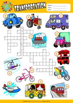 transportation crossword puzzle esl vocabulary worksheet crosswords word search puzzle. Black Bedroom Furniture Sets. Home Design Ideas