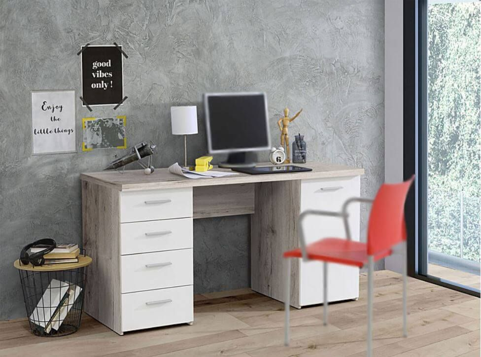 Pulton Large Writing Desk With Drawers By Furniturefactor Desk With Drawers White Desk With Drawers Writing Desk With Drawers