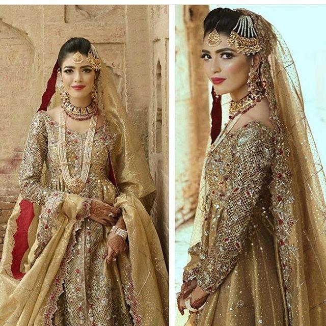 Gold Pakistani Wedding Dress