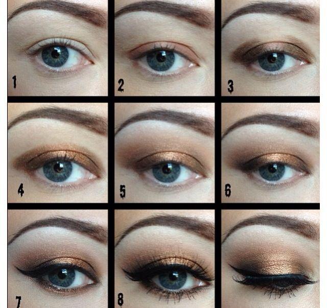 Bronze oog make-up