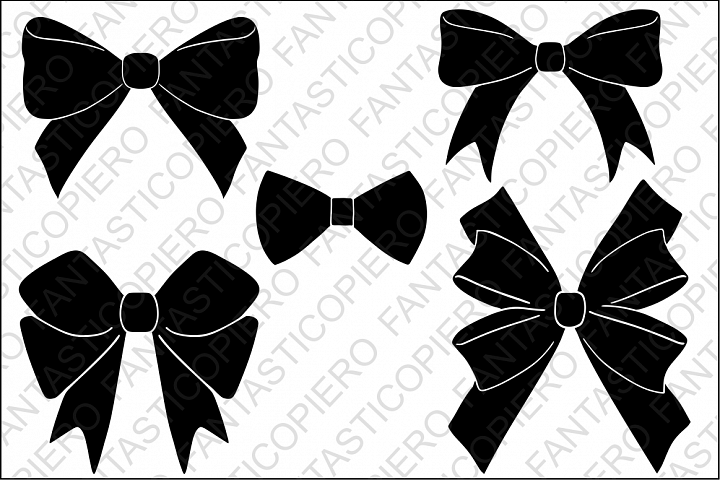 Download Bows SVG files for Silhouette Cameo and Cricut. Bows ...