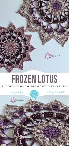 Frozen Lotus Free Crochet Pattern