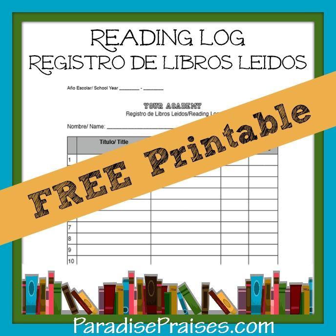 Spanish Reading Log Printable - Worksheet  Coloring Pages
