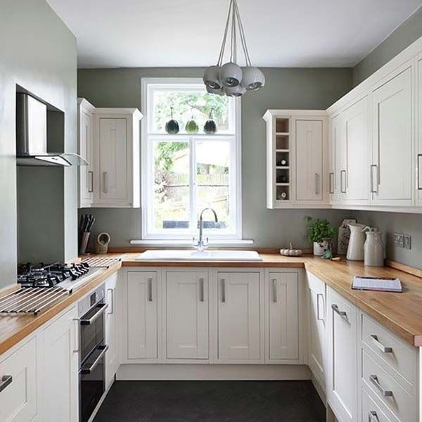 19 practical u shaped kitchen designs for small spaces for Kitchen ideas narrow space