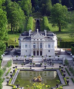 Linderhof Palace In The Graswang Valley Near The Village Of Ettal Near Oberammergau Bavaria Germany This Site Bavarian P With Images Linderhof Palace Castle Mansions