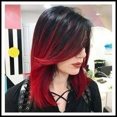 Hair black with red underneath tumblr