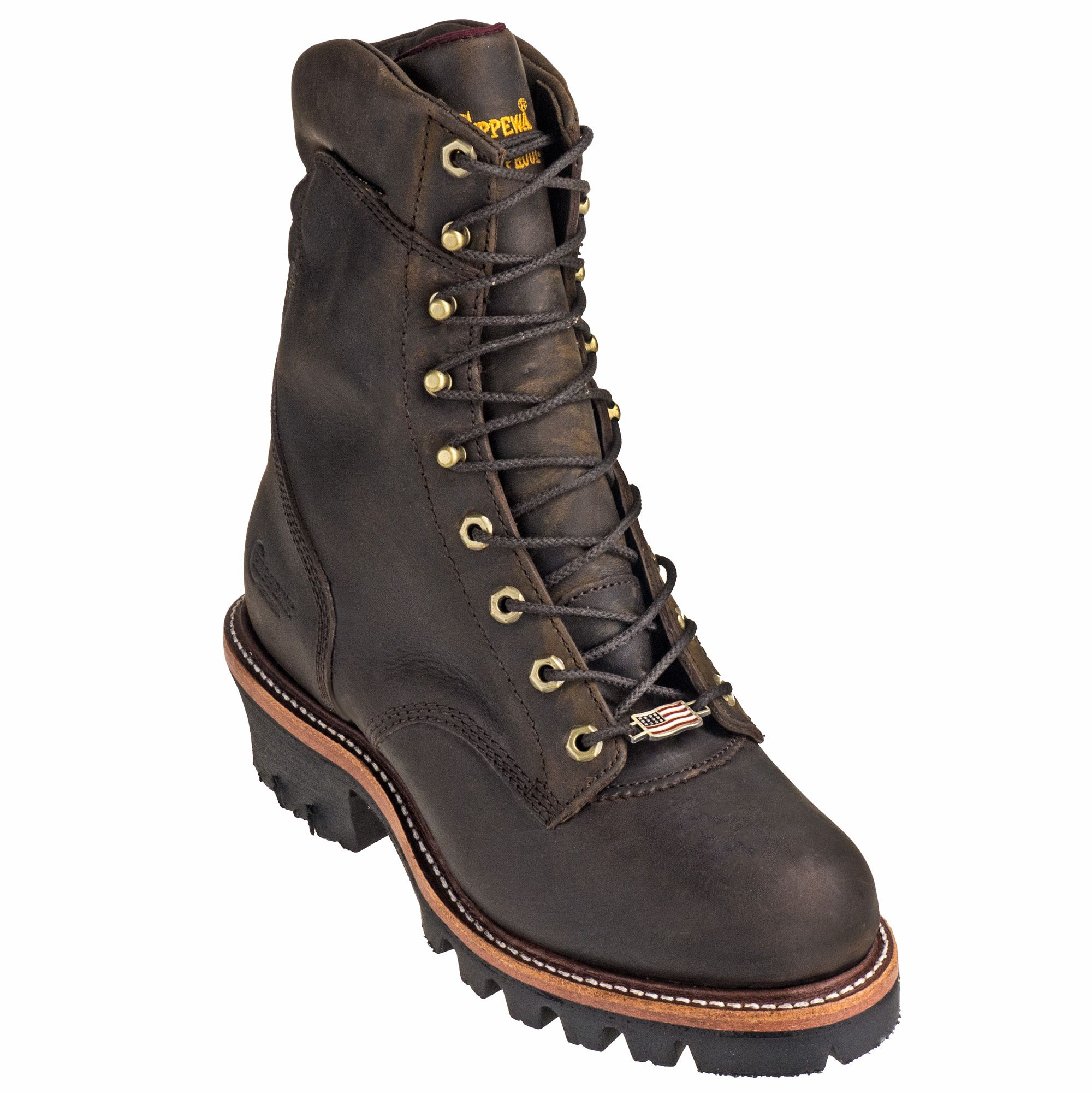 Chippewa Boots Men's Waterproof USAMade 25406 Logger