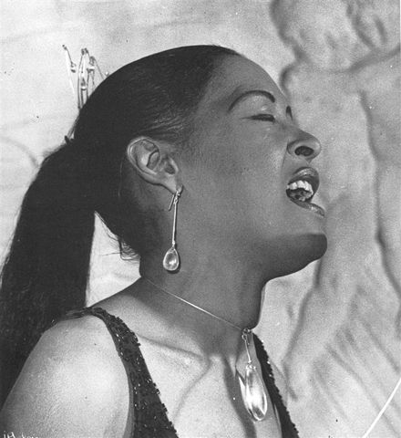 Billie Holiday wearing Torun