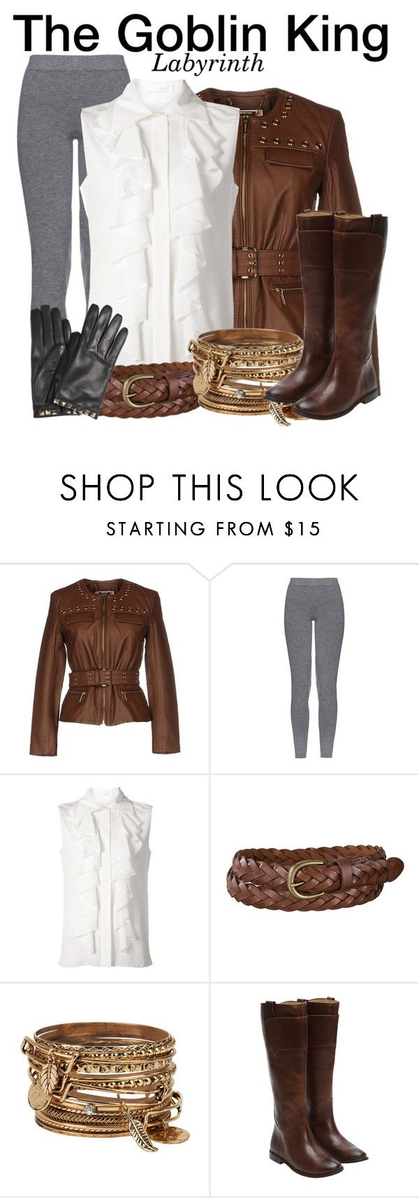 """""""The Goblin King - Labyrinth"""" by nerd-ville ❤ liked on Polyvore featuring MICHAEL Michael Kors, MaxMara, Chloé, Uniqlo, ALDO, Frye, Valentino, women's clothing, women's fashion and women"""