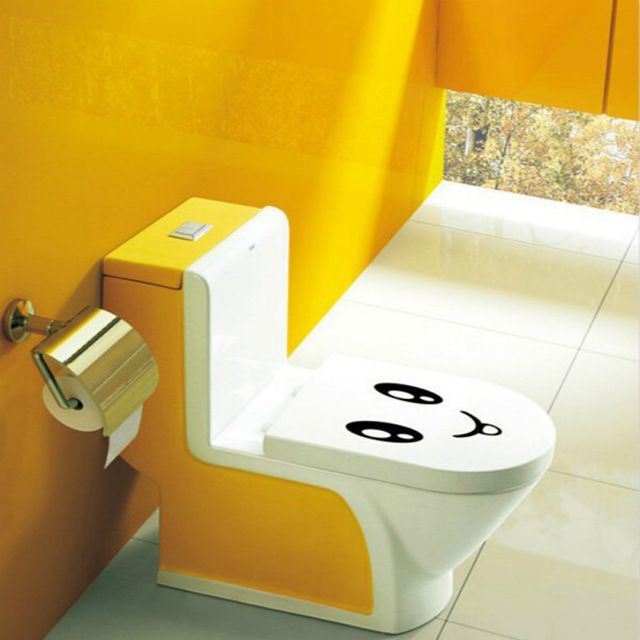Smiley Face Toilet Sticker Emoji Bathroom Wall Decal Home Decor Removable Wall Stickers On The Toilet Seat 3d Vinyl Wall Kids W