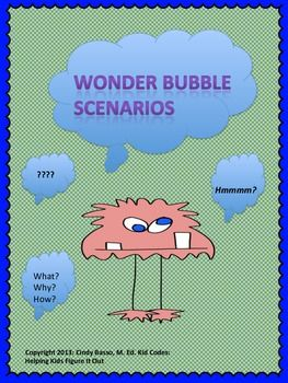 PERSPECTIVE TAKING ACTIVITIES Thought Bubble Scenarios {For K-5th