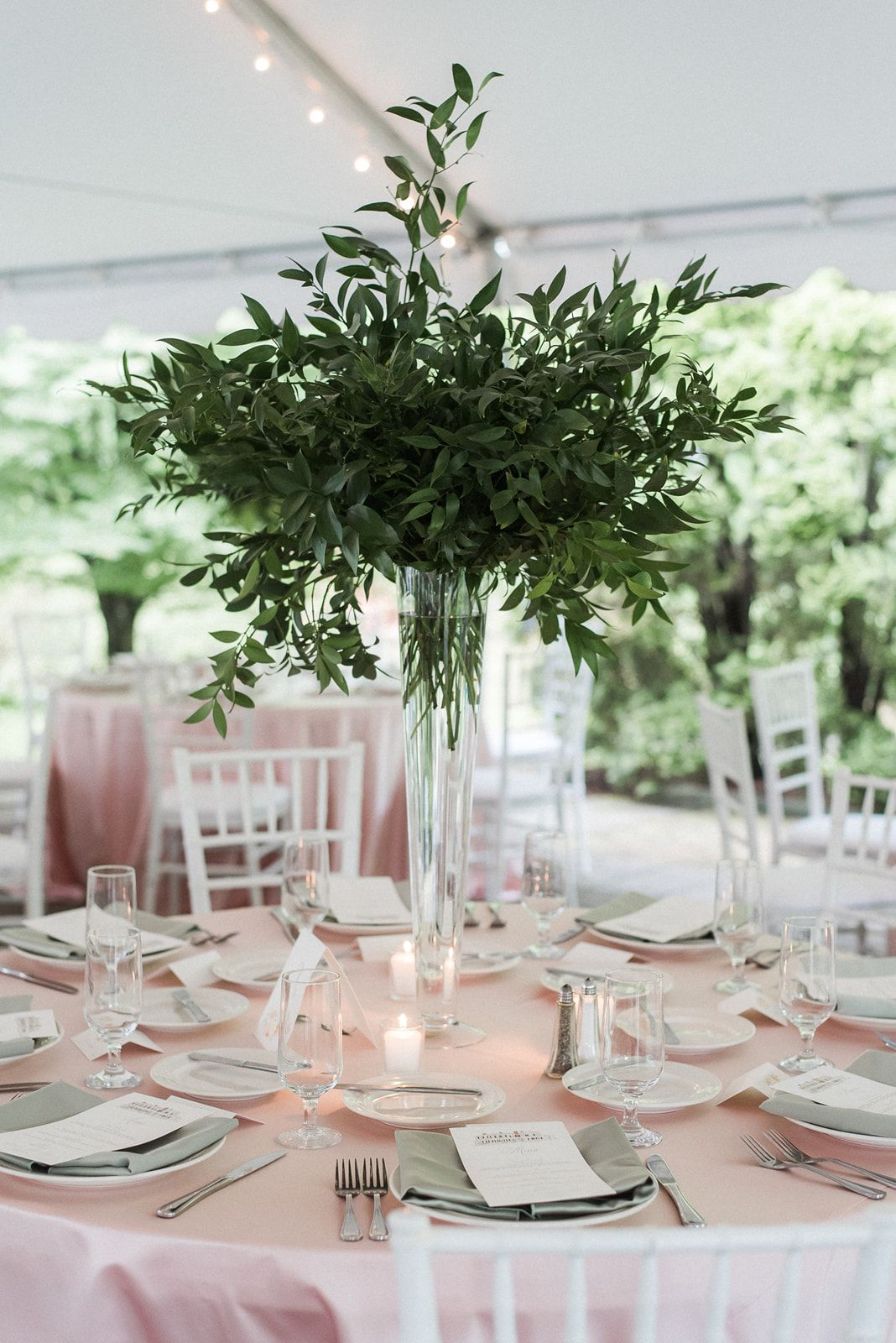 Green and White Tall Floral Centerpiece |Tall Green Centerpiece