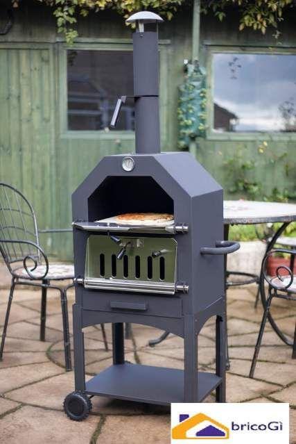 Barbecue forno a legna da terrazzo giardino | Cucina/pilozzo esterno ...