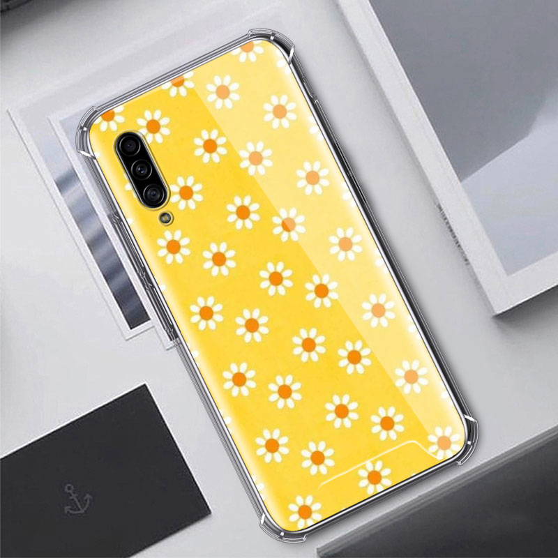 Aesthetics Yellow Pattern Case For Samsung Galaxy A50 A70 A70s A50s A40 A30 A20e A20s A10s A10 Airbag Anti Fall In 2020 Pattern Case Yellow Phone Cases Yellow Pattern