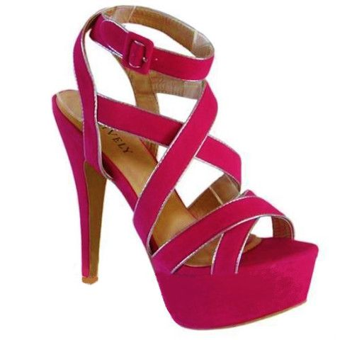 Fancy pink High Heels - Evening Sandals- AUSTRALIAN ONLINE | shoes ...