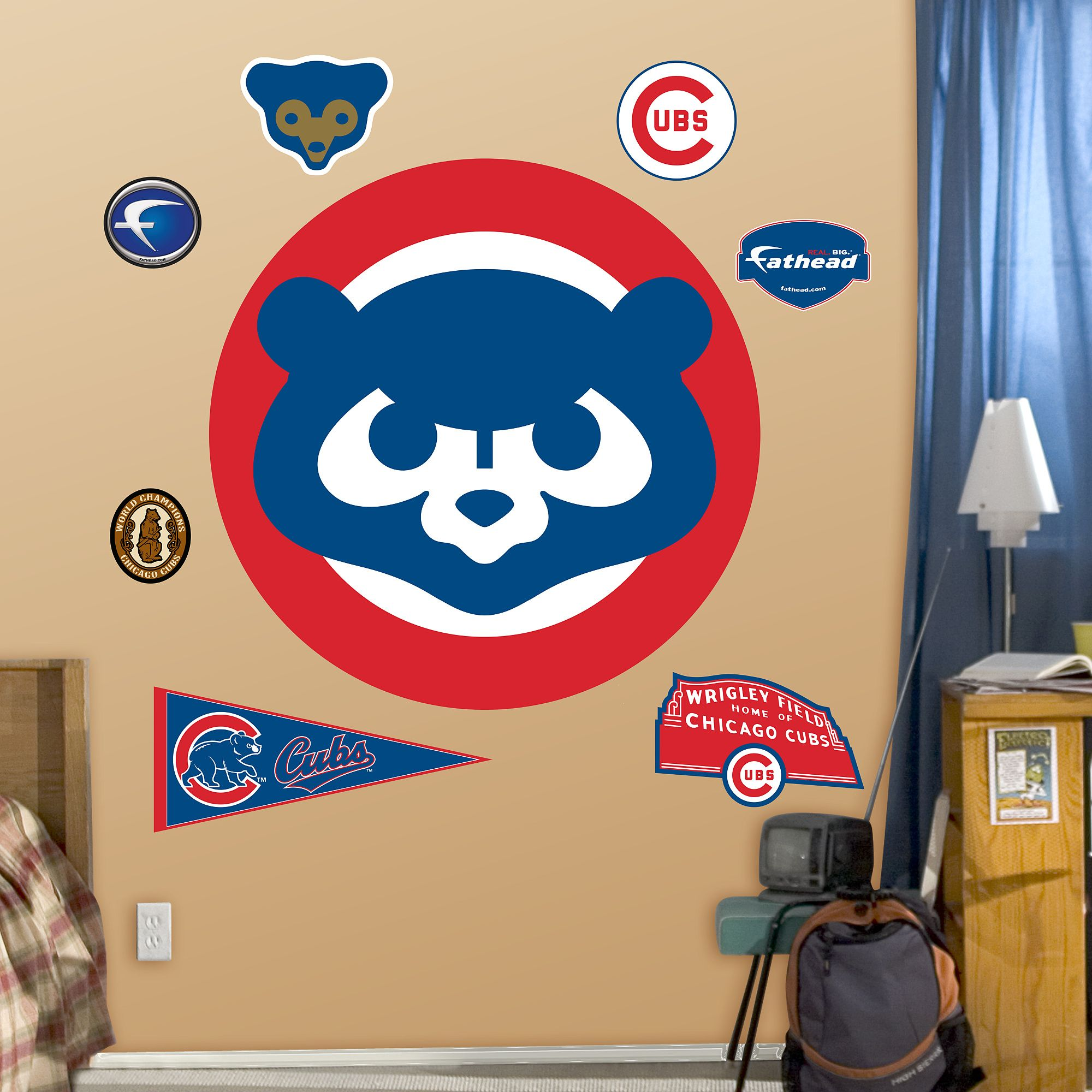 48f31b3fdc6 Chicago Cubs  Classic Logo - Giant Officially Licensed MLB Removable ...