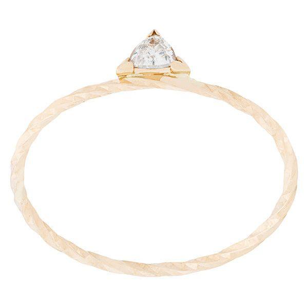 Maria Black Diamond Cut Viper ring - Metallic 2pQeRP