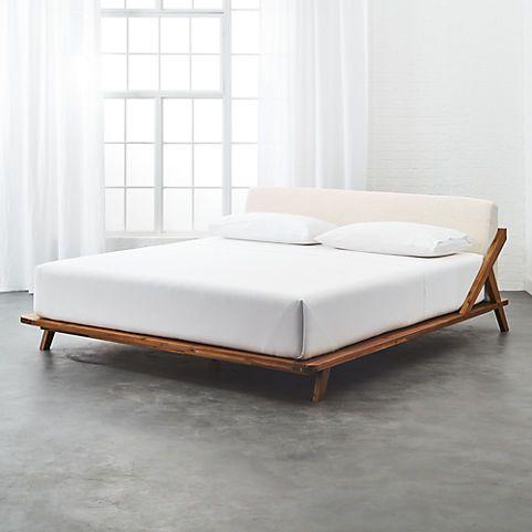 drommen wooden bed | CB2 | house | Pinterest