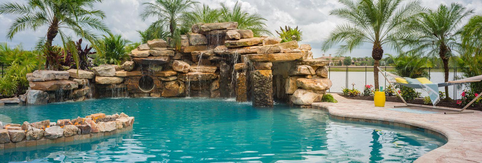 Lucas Lagoons Builds A Massive Luxury Custom Pool At The Concession In Bradenton Florida For Pro Golfer J B Holmes Pool Insane Pools Dream Pools