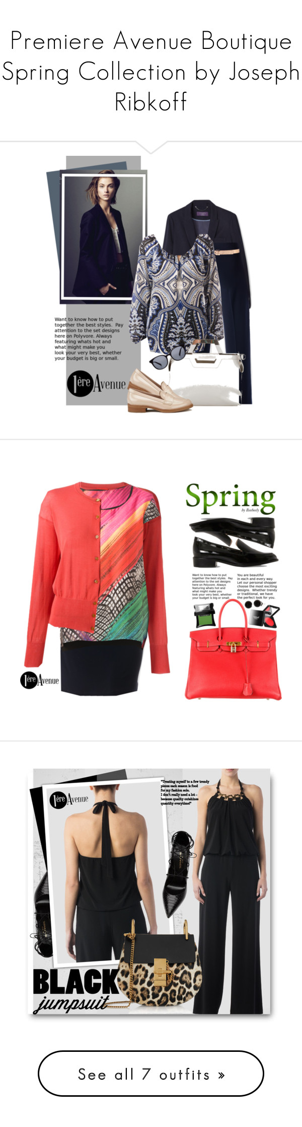 """""""Premiere Avenue Boutique Spring Collection by Joseph Ribkoff"""" by beebeely-look ❤ liked on Polyvore featuring springfashion, premiereavenue, JosephRibkoff, MANGO, Joseph Ribkoff, Forever 21, Balenciaga, HUGO, CÉLINE and country"""