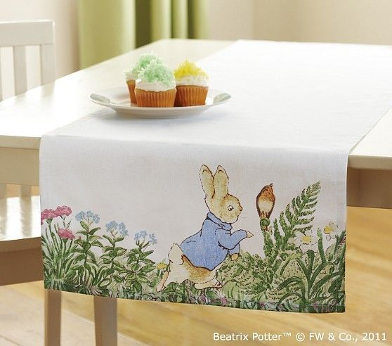 Diy Easter Decorations Bunny Table Runner For Easter