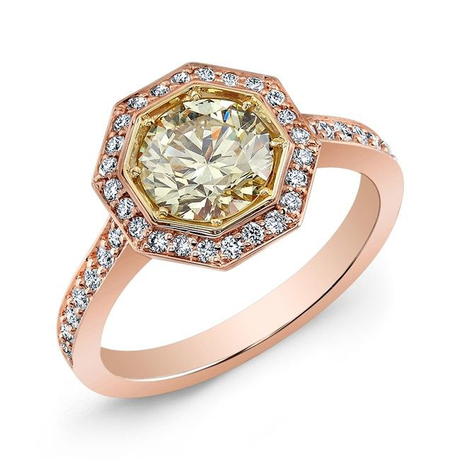 Nice Fancy Light Yellow Diamond Ring Fancy light yellow diamond set on an k yellow u