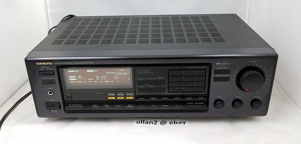 Onkyo Quartz Synthesized Tuner Amplifier TX-905 Stereo