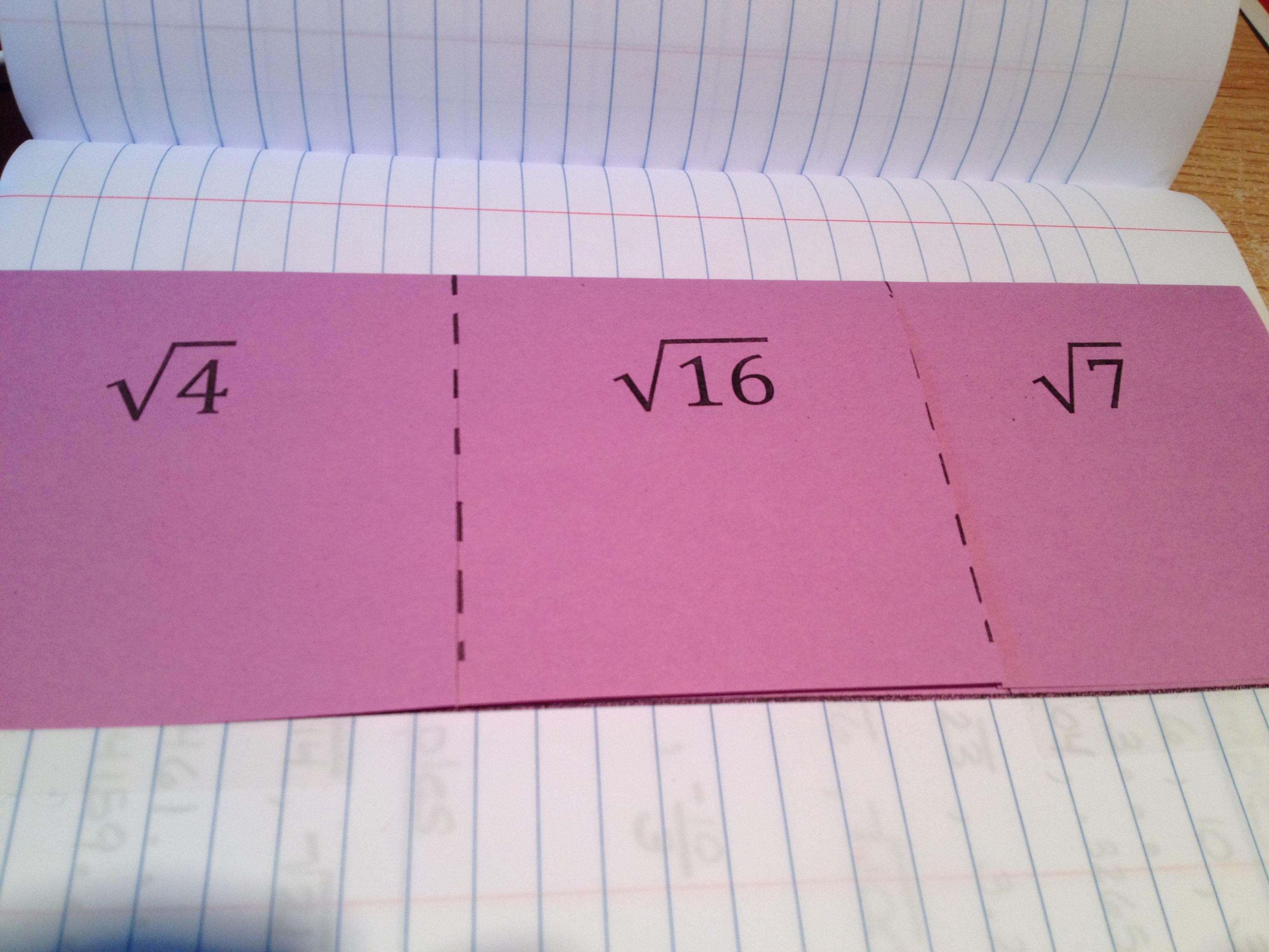 Square Root Foldable