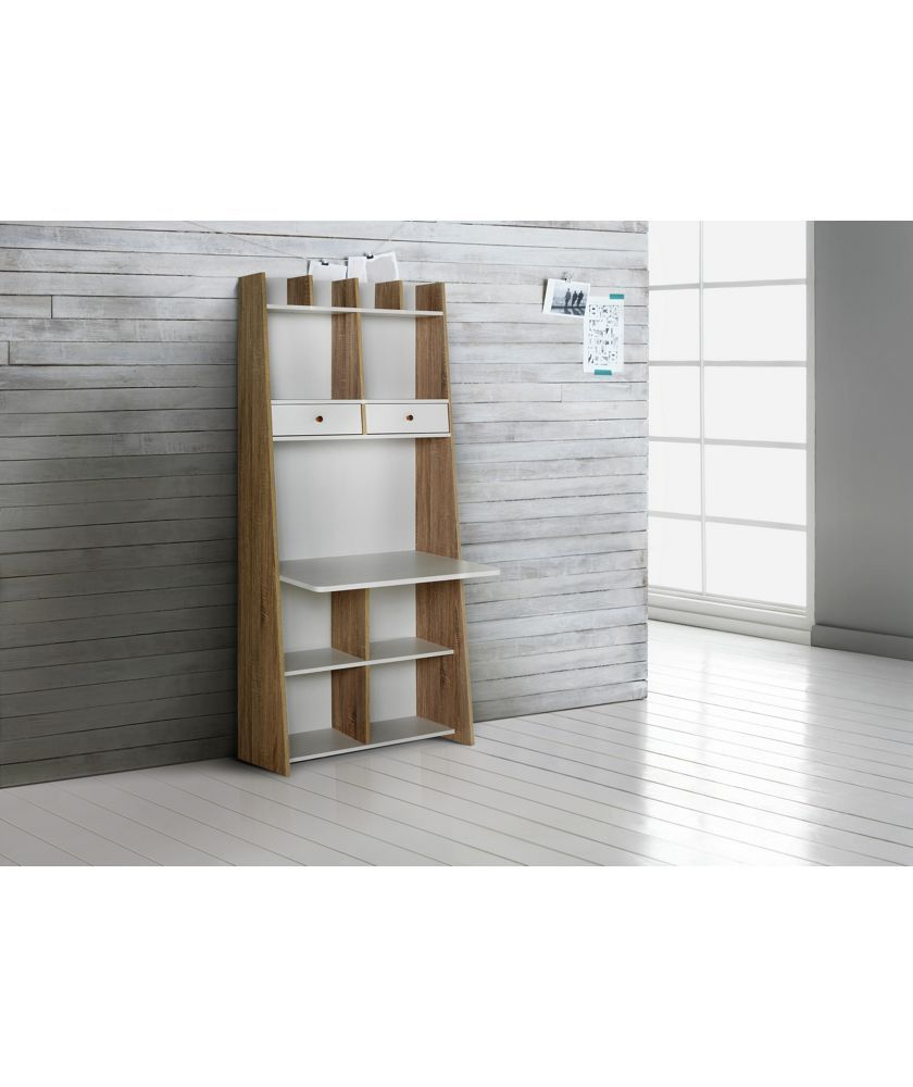 Buy Auckland Wall Unit Desk - White and Oak Effect at Argos.co.uk ...