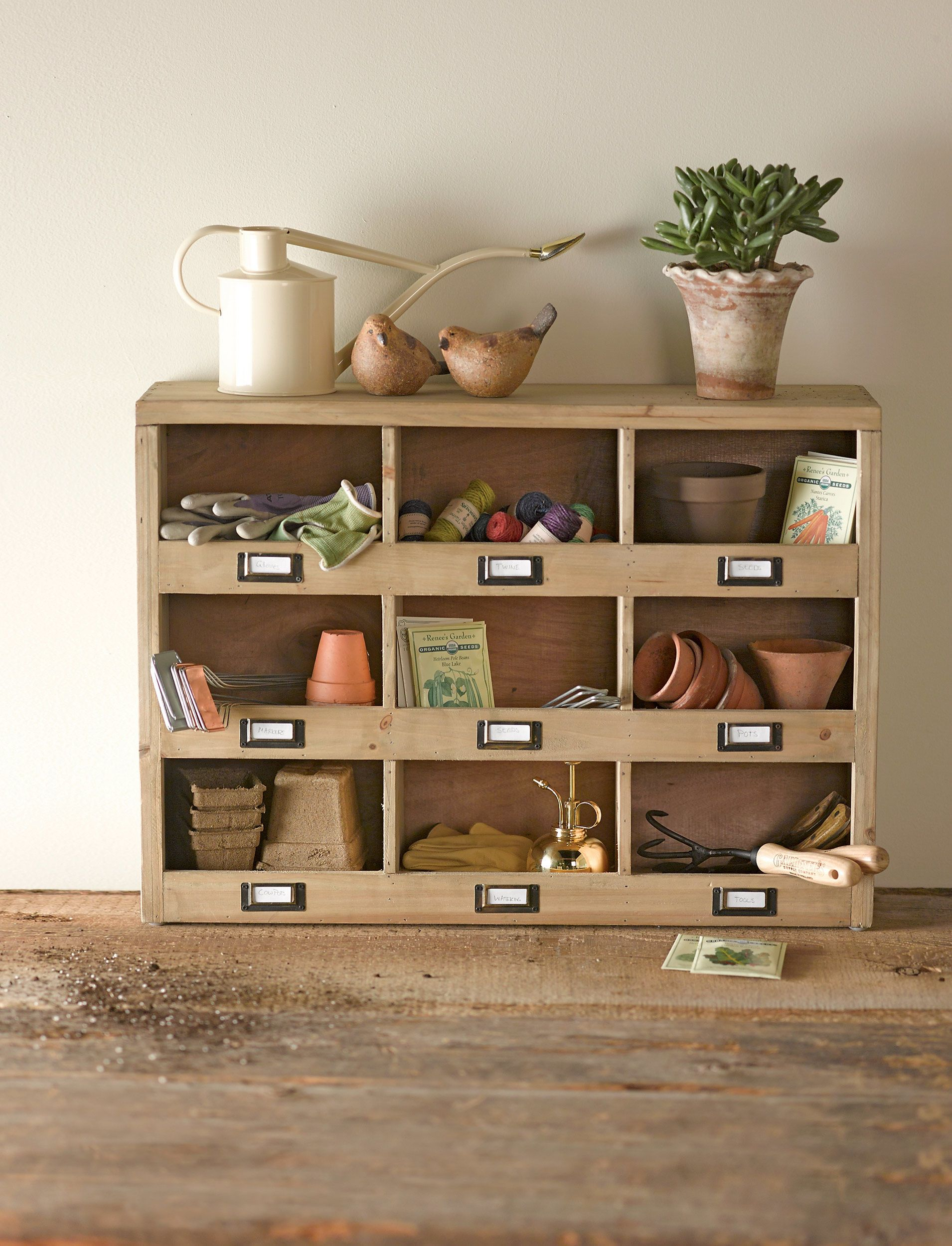 Storage Cubbies from Gardener\'s Supply Company. I love a cubby. Any ...