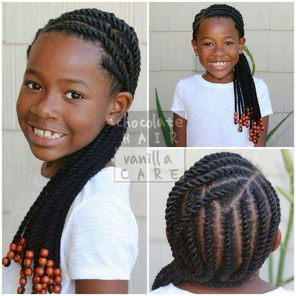 flat rope twist with yarn | hair dos | afro hair pieces