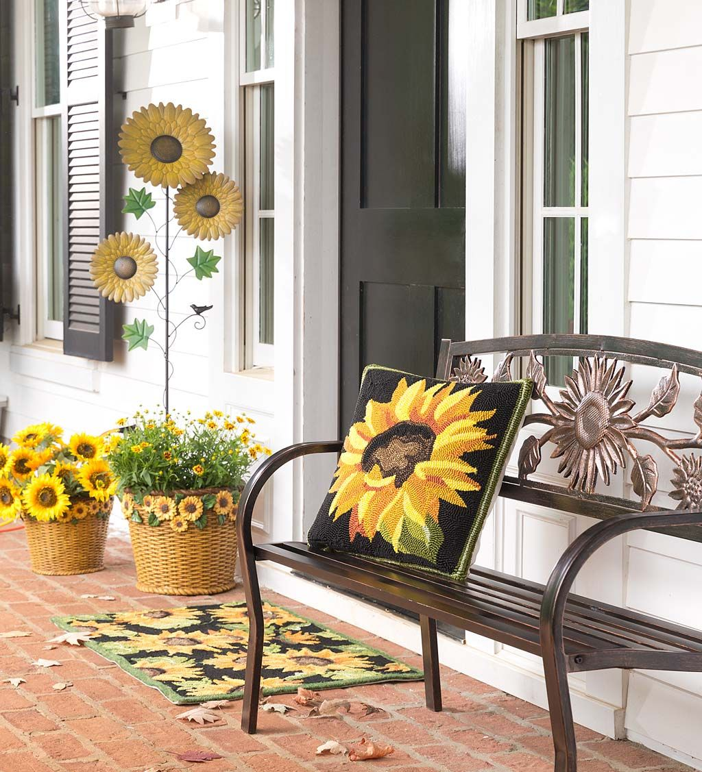 Sunflower Season In 2020 Fall Decorations Porch Front Porch Decorating Farmhouse Decor Living Room #sunflower #theme #living #room