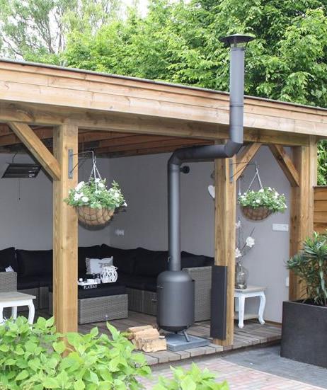 Ongebruikt Leuk idee, die open haard..... | Garden buildings XX-28