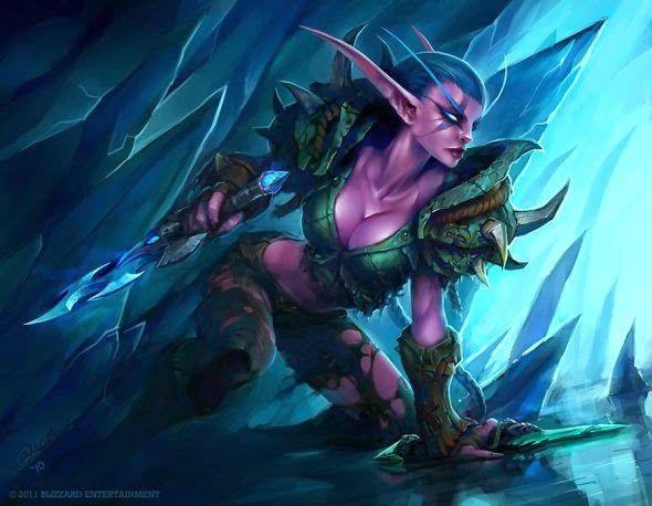 As ilustrações de fantasia e ficção de games da Blizzard por Luke Mancini
