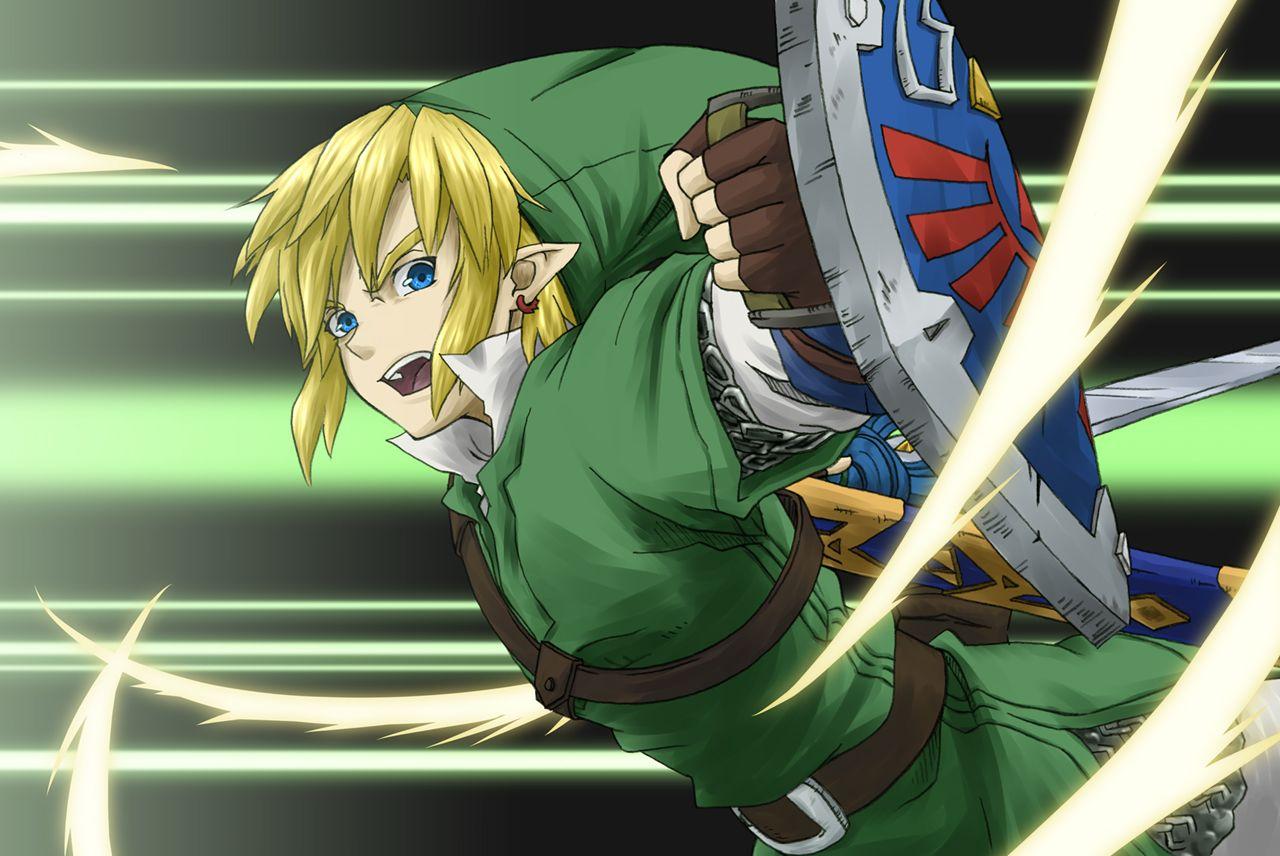 Anime Manga Style Link Fan Art Linkzelda Legend Of Zelda