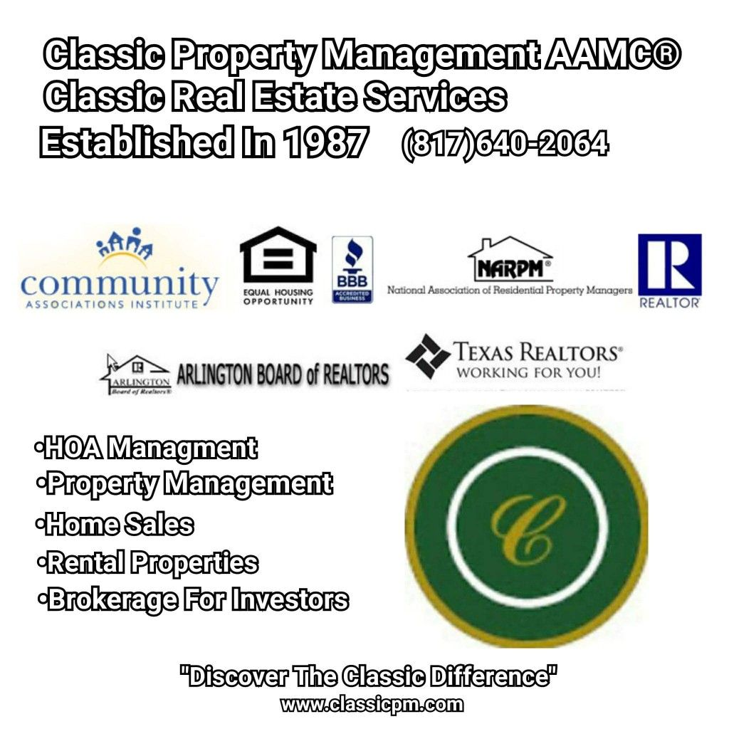 Pin By Classic Property Management Aa On Classic Property Management Aamc Classic Real Estate Services Dfw Real Estate Property Management Real Estate Services