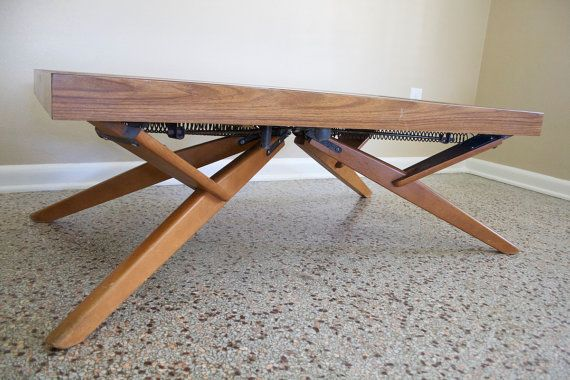 Vintage Castro Convertible Adjustable CoffeeSideDining Table Mid